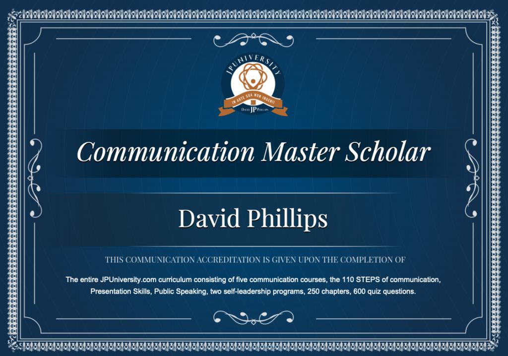 Communication Master Scholar - JP University